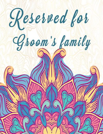 Reserved Groom sign