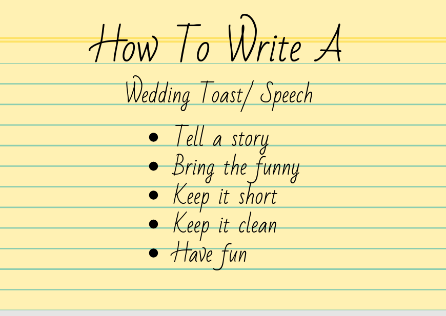Wedding Speech Writing Tips From A Professional