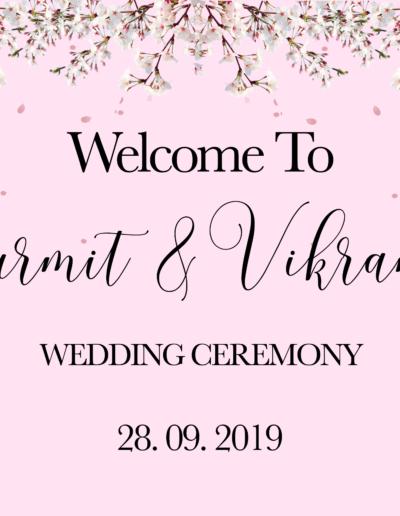 36x24 welcome sign - Gurmit & Vik